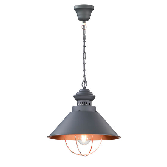 WOFI Pendant Light Florence grey 33,5 cm